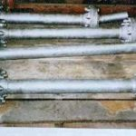 "38 four ""ball type"" flexible strut joints"