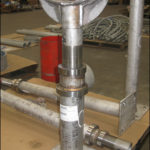 39 adjustable pipe saddle supports designed for a booster pump station rehabilitation project in florida