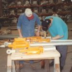 Hydraulic Snubbers Being Assembled