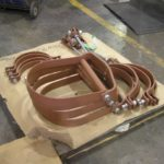 Painted clevis hangers for insulated lines