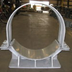 Pipe saddles with guide support and stainless setel slide plate