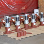 30″ Dia. Adjustable Pipe Saddle Supports Designed for an Oil Refinery