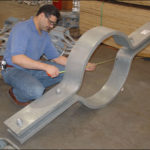 Riser clamp for a 30 diameter vertical pipe at a power plant