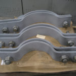 Three bolt clamps for a power plant