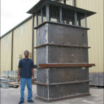 5,000 lb. Air Intake Stacks & 300 lb. Dampers for an Oil Refinery