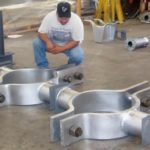 "24"" Chrome-Moly, Three-Bolt Clamps with Stanchions"