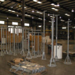 Custom instrument stands ranging from single to quadruple attachments