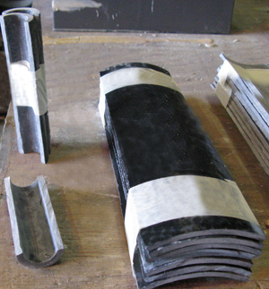 FRP Pads for Uninsulated Pipes