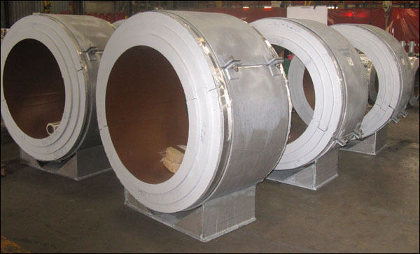 Cryogenic Pipe Supports insulated with 20 PCF High Density Polyurethane Foam