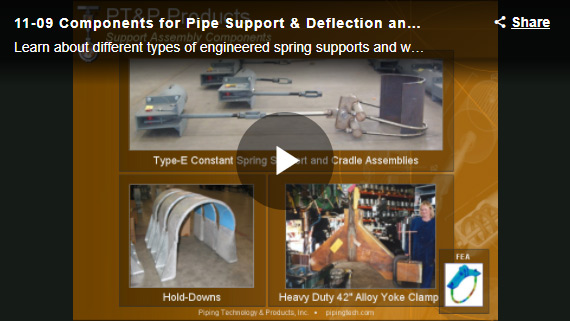 COMPONENTS FOR PIPE SUPPORT DEFLECTION AND RESTRAINT WEBINAR