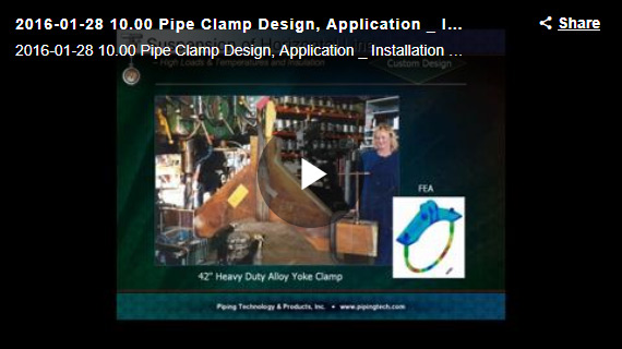 DESIGN, APPLICATION & INSTALLATION OF PIPE CLAMPS WEBINAR
