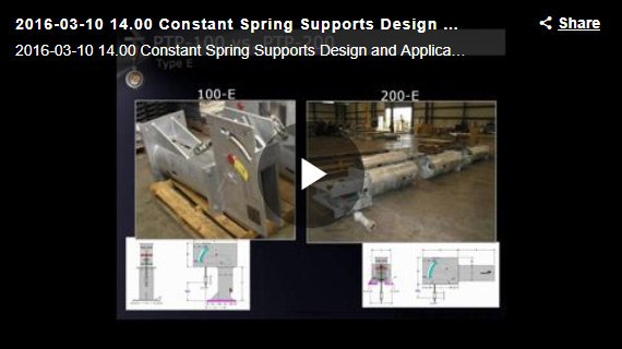 CONSTANT SPRING SUPPORTS DESIGN AND APPLICATION WEBINAR