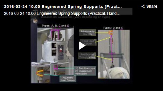 ENGINEERED SPRING SUPPORTS (PRACTICAL, HANDS-ON APPROACH) WEBINAR