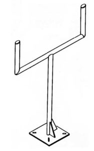 Welded instrument stand