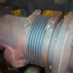 Failed bellows between cyclinder