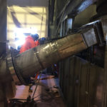 expansion joint for the chute