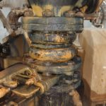 Corroded rubber expansion joint