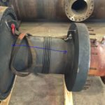 Failed leaking single expansion joint