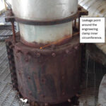 Rusted clam shell expansion joint