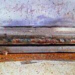Rusted slide plate
