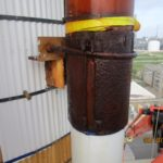 Rusted u bolt clamp