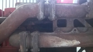 Corroded expansion joint bellow 2