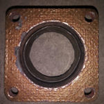 Corroded flange