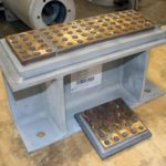 Bronzphite® Slide Plate Assembly for an Exhaust Duct at a Fossil-Fired Power Plant
