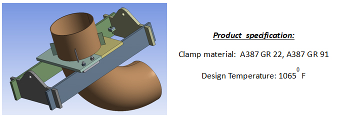 Ptp custom riser clamp for elbow