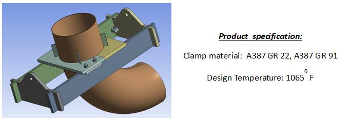 Ptp custom riser clamp for elbow