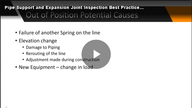 Pipe support and expansion joint best practices still